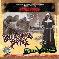 "Pussyvibes (Por) Brutal Brain Damage (Por) ‎""Grindhouse"" CD"