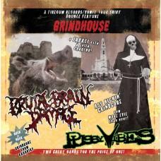 """Pussyvibes (Por) Brutal Brain Damage (Por) """"Grindhouse"""" CD"""